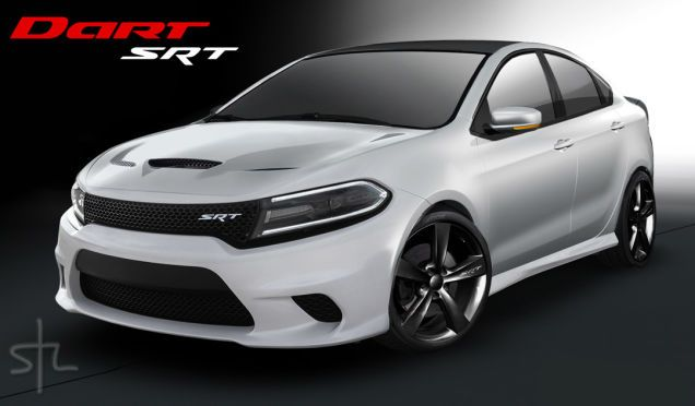 The Dodge Dart SRT Should Look Like This Baby Hellcat Render