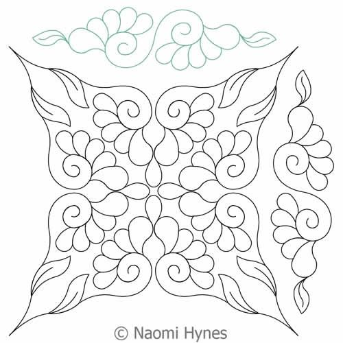 Digital Quilting Design Flowers in My Wedding DWR Set by Naomi Hynes.