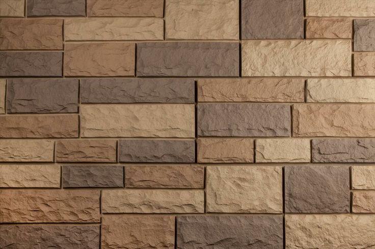 BuildDirect: Faux Stone Siding Panels Faux Stone Siding   Random Rock   Toffee