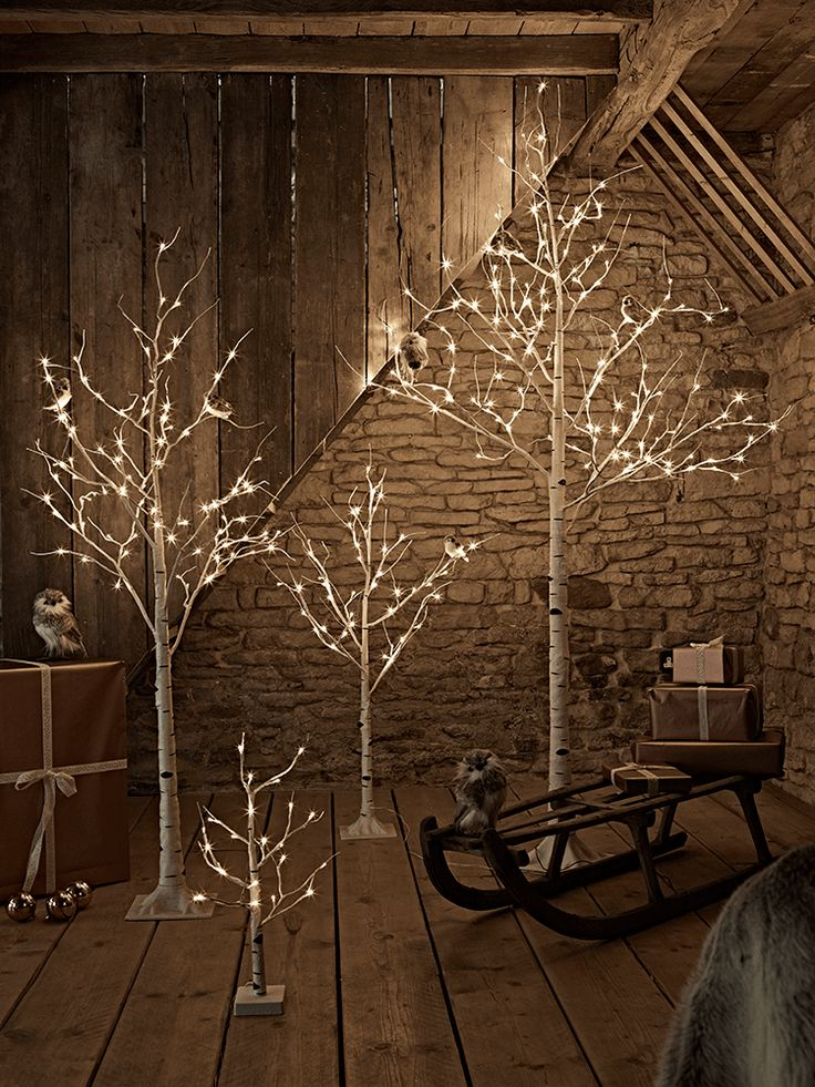 NEW Birch Indoor Outdoor Light Up Trees - Christmas