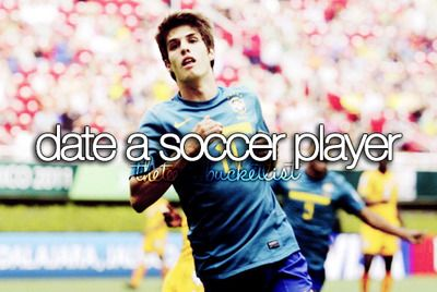 Date a soccer player. DONE! #ThanksHunter