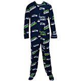 Seattle Seahawks NFL Wildcard Unionsuit Pajamas (Small)