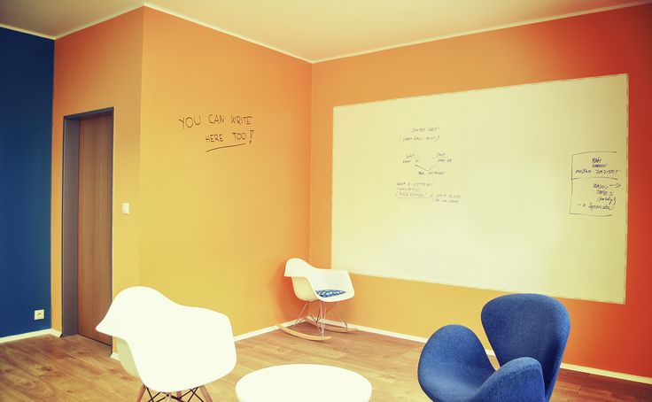 Dry erase paint in the office