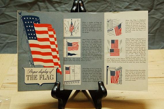 17 best images about vintage patterns on pinterest for Proper us flag display