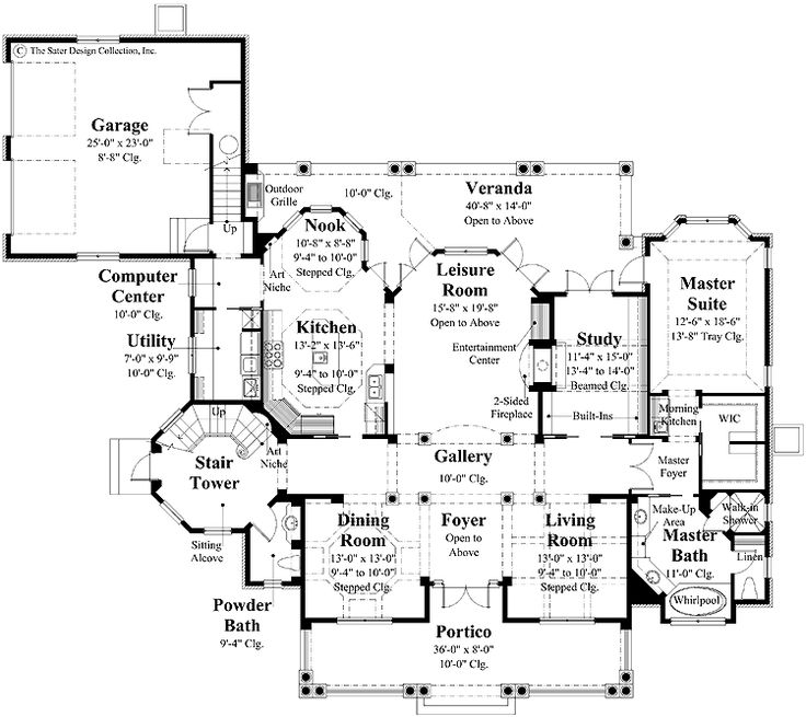 Home Plans HOMEPW09195 - 3,613 Square Feet, 4 Bedroom 3 Bathroom Plantation Home with 2 Garage Bays