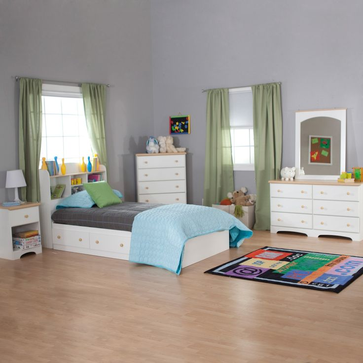 South Shore Valentina Twin Bookcase Bed Collection   Bedroom Storage Never  Looked So Stylish With The Valentina Bookcase Bed. In A Pure White Finish,  ...