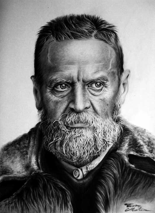 Old Man - Desen în Creion de Corina Olosutean // Old Man - Pencil Drawing by Corina Olosutean