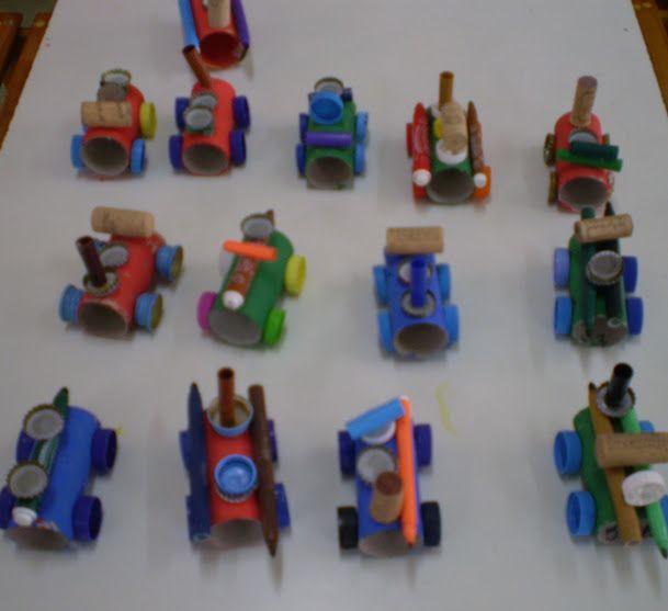 5ο ΝΗΠΙΑΓΩΓΕΙΟ ΚΑΛΑΜΑΤΑΣ- Αυτοκινητα-με ρολα απα χαρτι υγειας και ανακυκλωσιμα υλικα