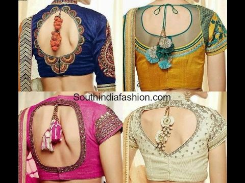 Best Designer Saree Blouse Designs Part_02 - YouTube
