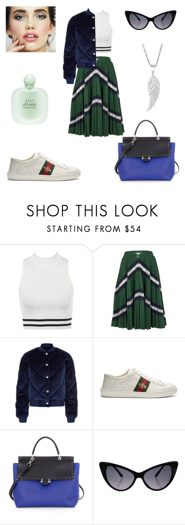 """Sport in the city 🤸‍♀️🤸‍♀️🤸‍♀️"" by sleepintheclouds ❤ liked on Polyvore featuring Valentino, Maje, Gucci, Lanvin, Tom Ford, Giorgio Armani, sportchic, sportlook, polyvorefashion and Polyvoreoutfits"
