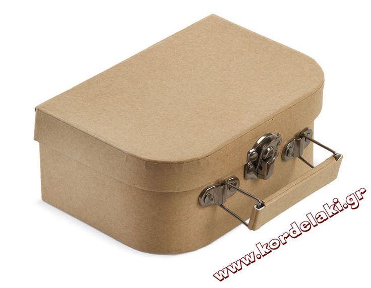 Κουτί βαλιτσάκι καφέ για μπομπονιέρα γάμου και βάπτισης, στολισμούς, κατασκευές, διακοσμήσεις ή οτιδήποτε έχετε φανταστεί.