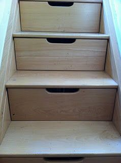 Home Organization Stairs Doubling As Drawers Stair Storage