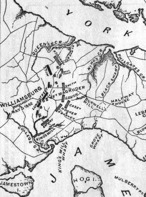 Battle of Williamsburg, Virginia is described from first hand accounts
