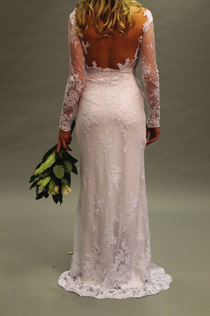 Full length at the back #weddingdress