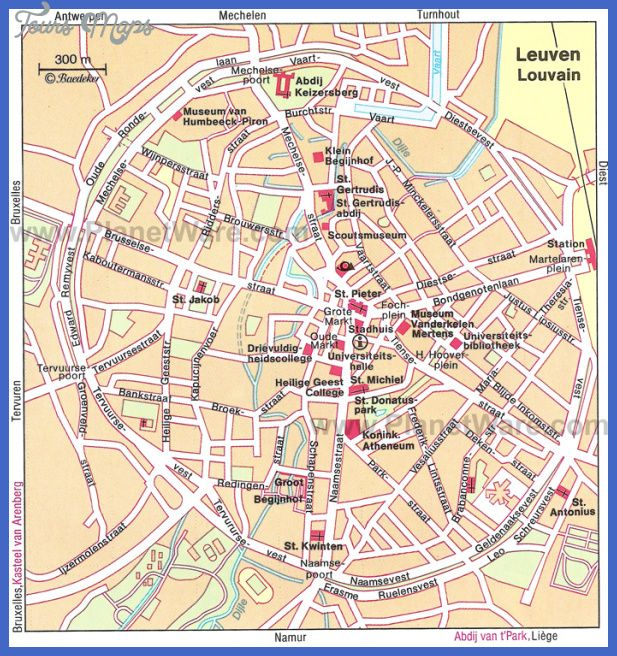 cool Belgium Map Tourist Attractions
