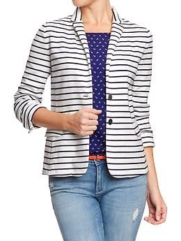 Womens Ponte-Knit Blazers