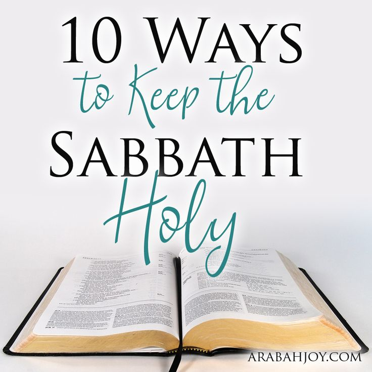 how to take a sabbath rest