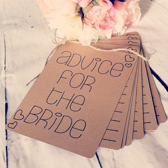 Advice For The Bride Book Bridal Shower Gift by DownInTheBoondocks, $15.00