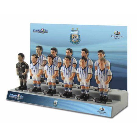 Minigols Argentina National Team Figures (11 Pack), Multicolor