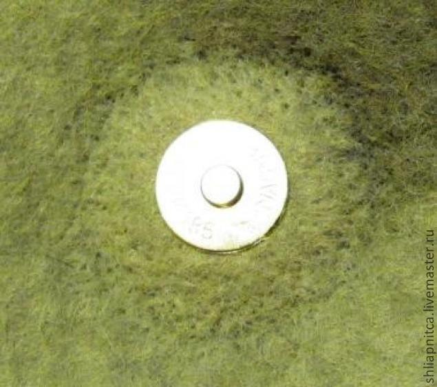 Магнитная застёжка на войлочной сумке - Ярмарка Мастеров - ручная работа, handmade