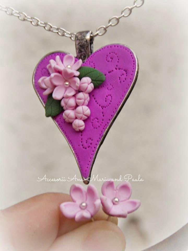 Handmade by Ana-Maria and Paula: Heart with lilac