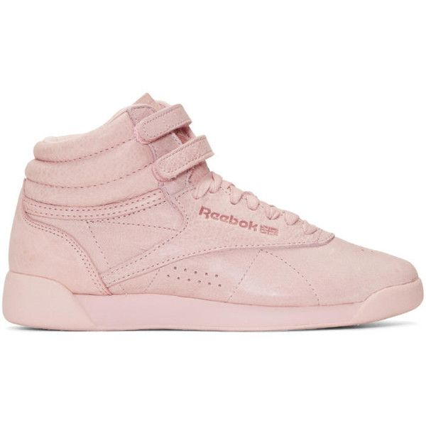 reebok classic pink high top sneakers