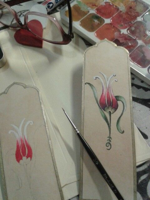 Hand painting tulip