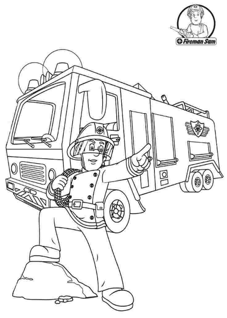 Fireman Sam Coloring Pages Printable The Original Idea Came About From Two Ex Firemen From L In 2020 Ausmalbilder Feuerwehrmann Sam Feuerwehrmann Sam Ausmalbilder