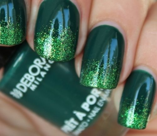 green nails - nail art
