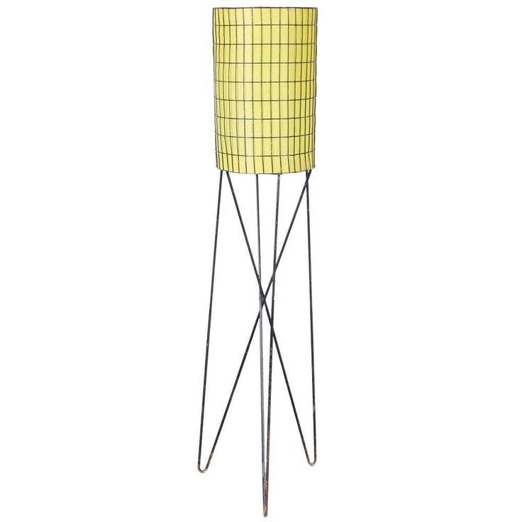 Midcentury Iron Floor Lamp by Paul Mayen 1