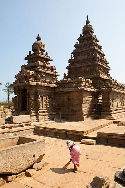 Mahabalipuram: 1005 year old ancient Hindu Temples - India - Still in use.  Probably the only religion/culture which has maintained its sacred Hindu thread since ancient times.