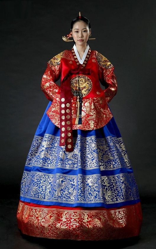 Red & Blue Royal Dangui with Gold Plating