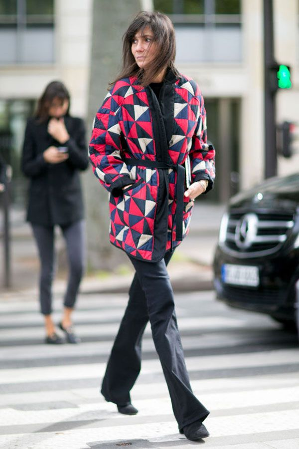 Emanuelle Alt look all black