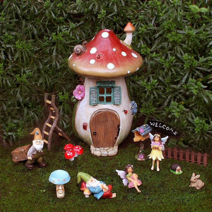 The Mushroom House - Fairy Garden