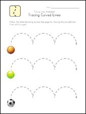 Tracing lines worksheet - writing readiness