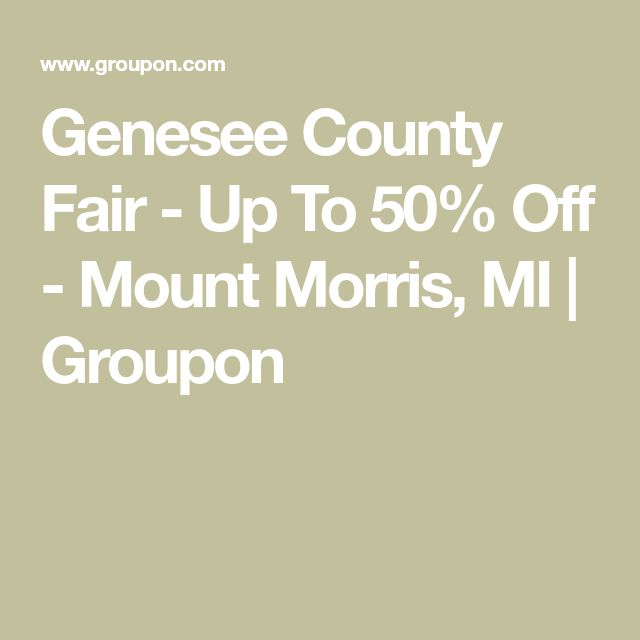 Genesee County Fair - Up To 50% Off - Mount Morris, MI   Groupon