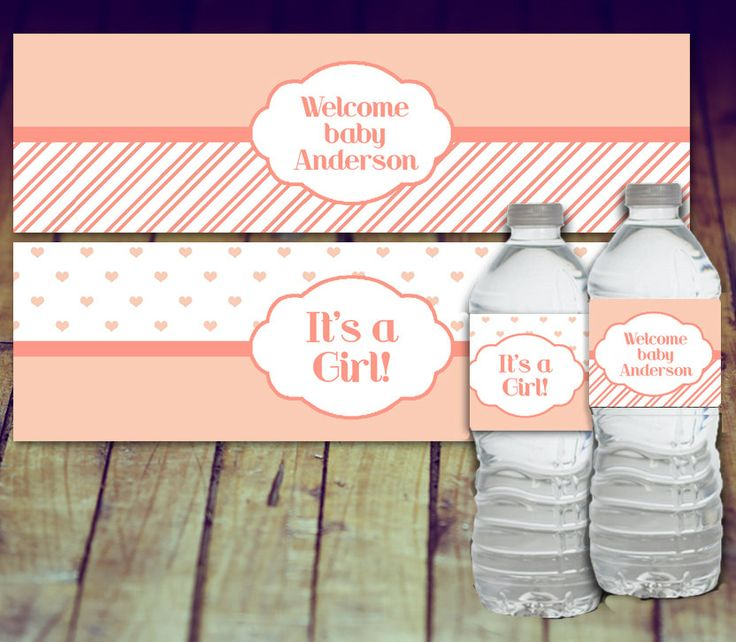 A personal favorite from my Etsy shop https://www.etsy.com/ca/listing/479411222/baby-shower-water-bottle-label-pink-baby