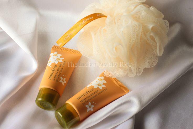 Innisfree Tangerine Blossom shower kit!