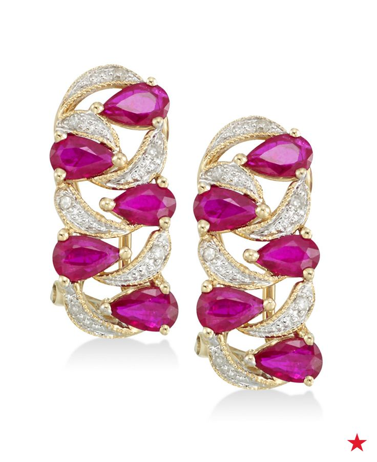 These pear-cut ruby and diamond earrings are so unique! Pair them with a little black dress for a special occasion or simply wear every day.