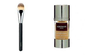50 best beauty products: Make up brush and Keromask camouflage cream