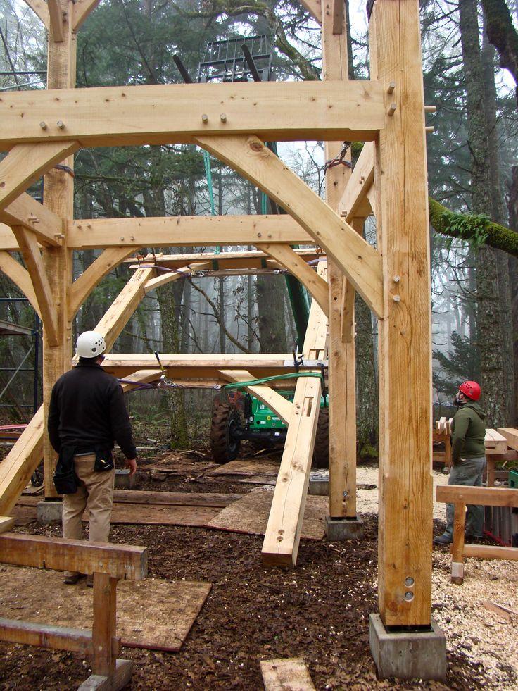 110 best Raising a Timber Frame images on Pinterest | Raising ...