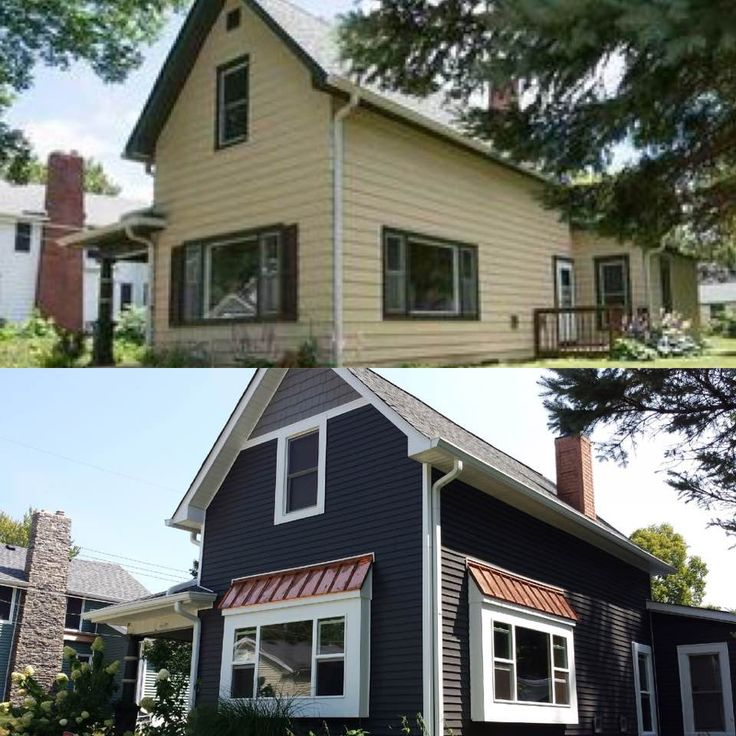 Best Before After Manor Dark Gray Siding White Trim And 400 x 300