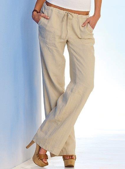 Купить брюки женские льняные