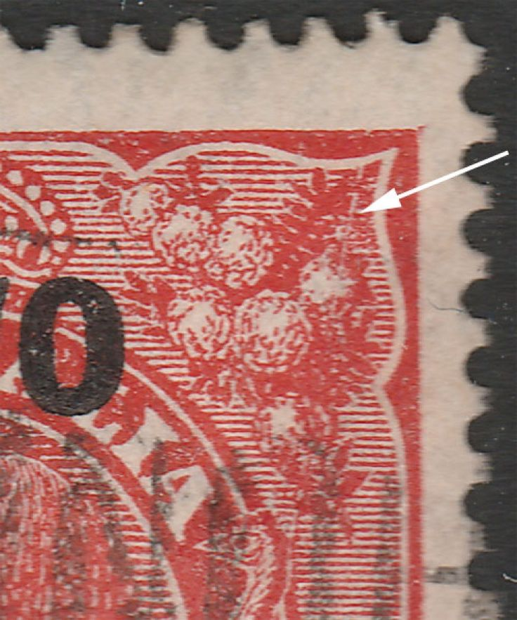 KGV Heads 2d on 1½d Surcharge  Before Surcharge BW92(1)f  Cracked plate. Find more KGV Heads at Stamp Shop
