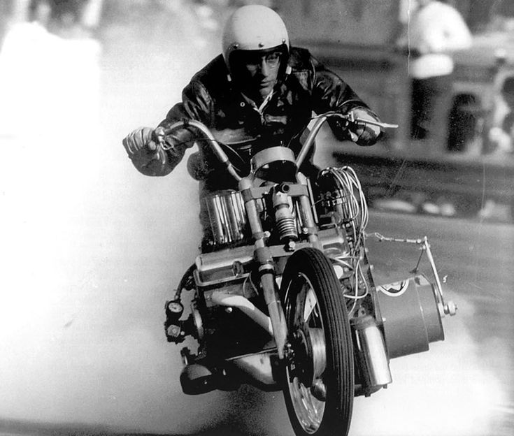 EJ Potter during one of his signature smokey starts