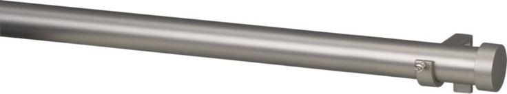 "Matte Nickel 1.25""x120""–170"" Curtain Rod Set"