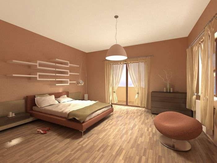 Idee per le pareti della camera da letto - Camera con pareti rosa antico