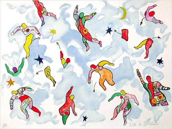 Niki de Saint Phalle, sky dance, Niki de Saint Phalle, sky dance, 2000, Lithography, 20.57 x 26.77 / 52.5 cm x 68 cm, 2000