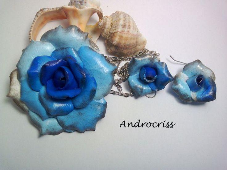 Blue rose-set bijuterii