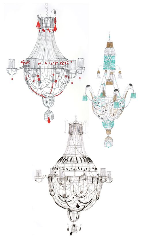 Marie Christophe chandeliers via susan connor design